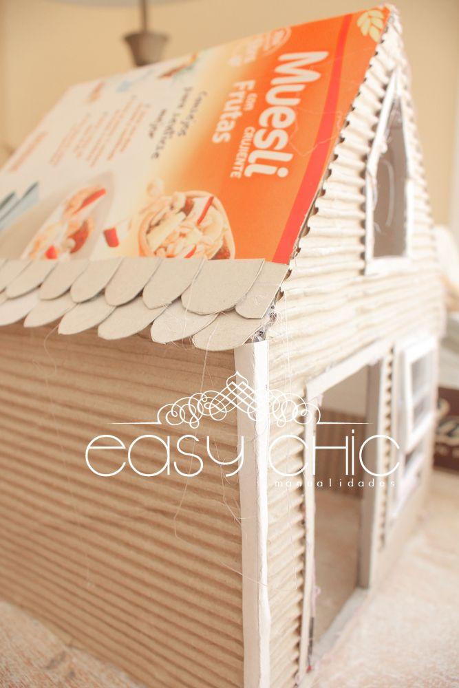 how to make a cardboard doll house