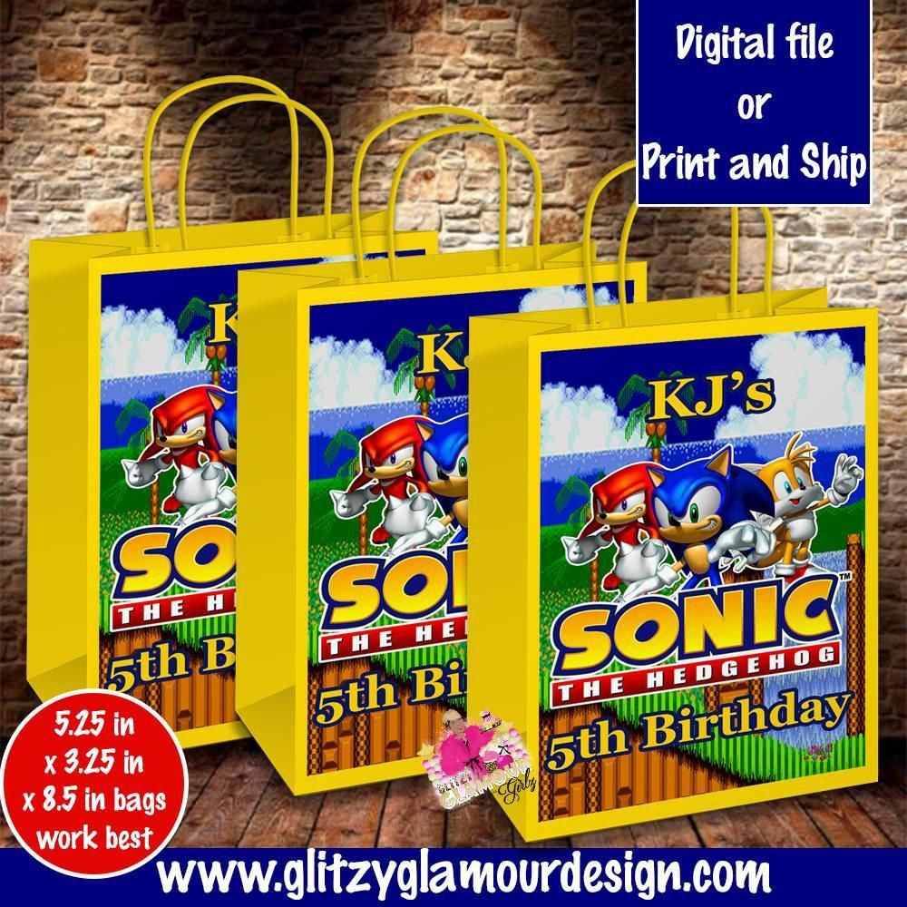 Sonic The Hedgehog Gift Bag Hedgehog Gifts Birthday Party Goodie Bags Sonic Party