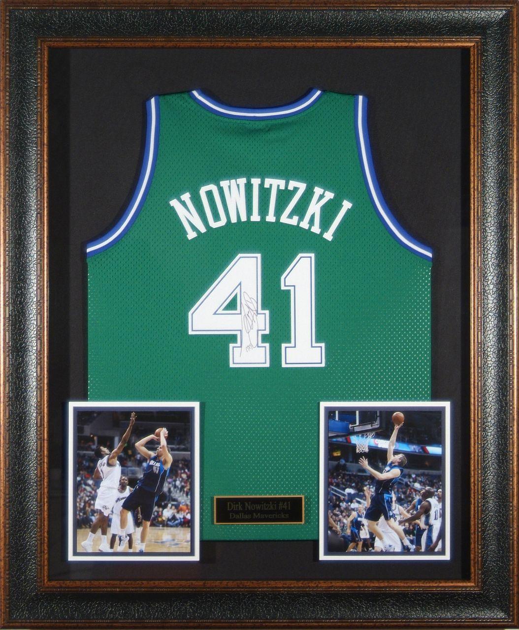 7ff426e959df Dirk Nowitzki Autographed Jersey Framed