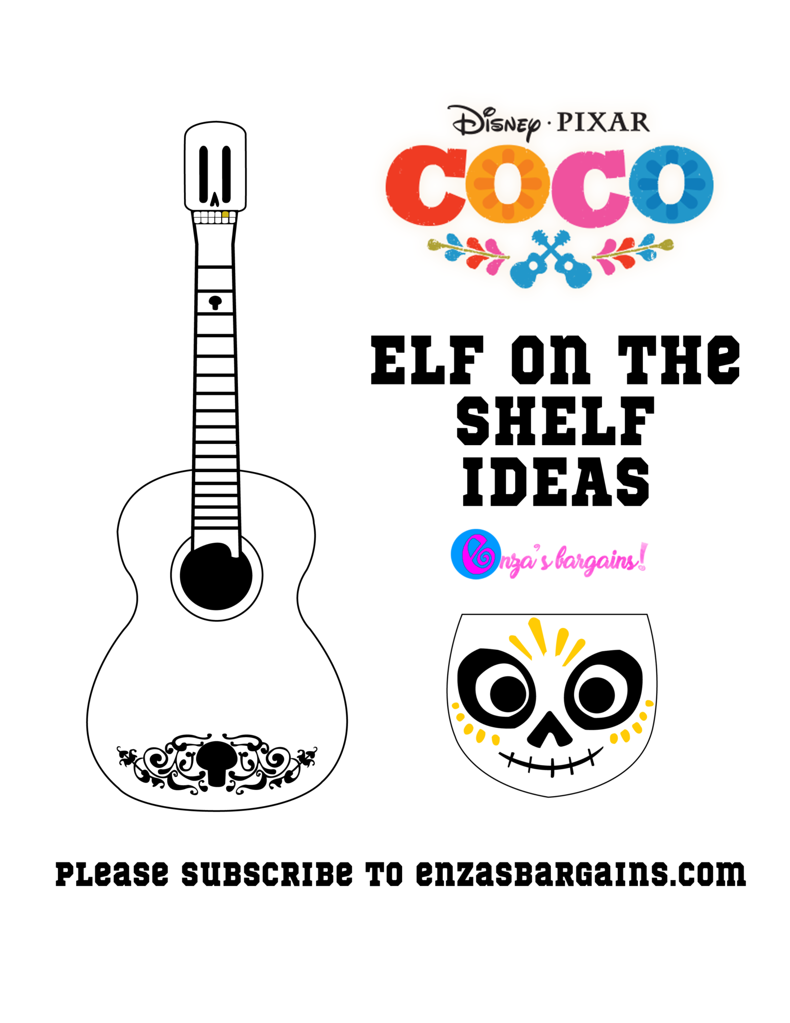Elf on the Shelf COCO or Day of the Dead - FREE Printable ...