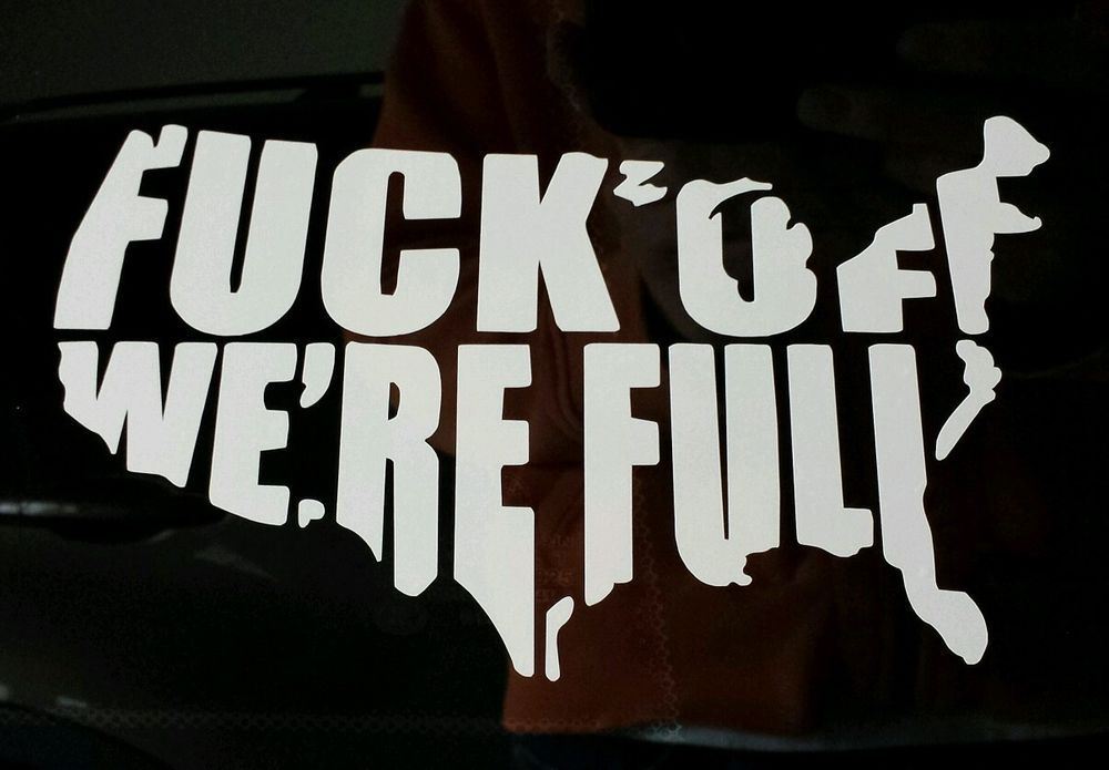 Usa f off were full vinyl decal sticker car truck window funny country