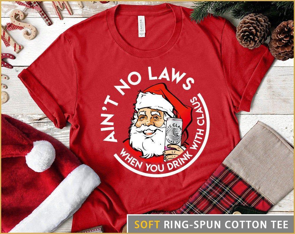 Unisex Shirt Santa Claws Funny Christmas Shirt Santa Claws Shirt Spiked Seltzer Shirt Day Drinking Funny Christmas Shirts Christmas Shirts Drinking Shirts [ 794 x 1000 Pixel ]