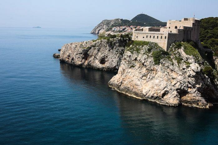 Dubrovnik, Croatia | shershegoes.com  Eastern Europe Travel Tourist Beach Waves Water  Summer Ocean Cliffs Blue