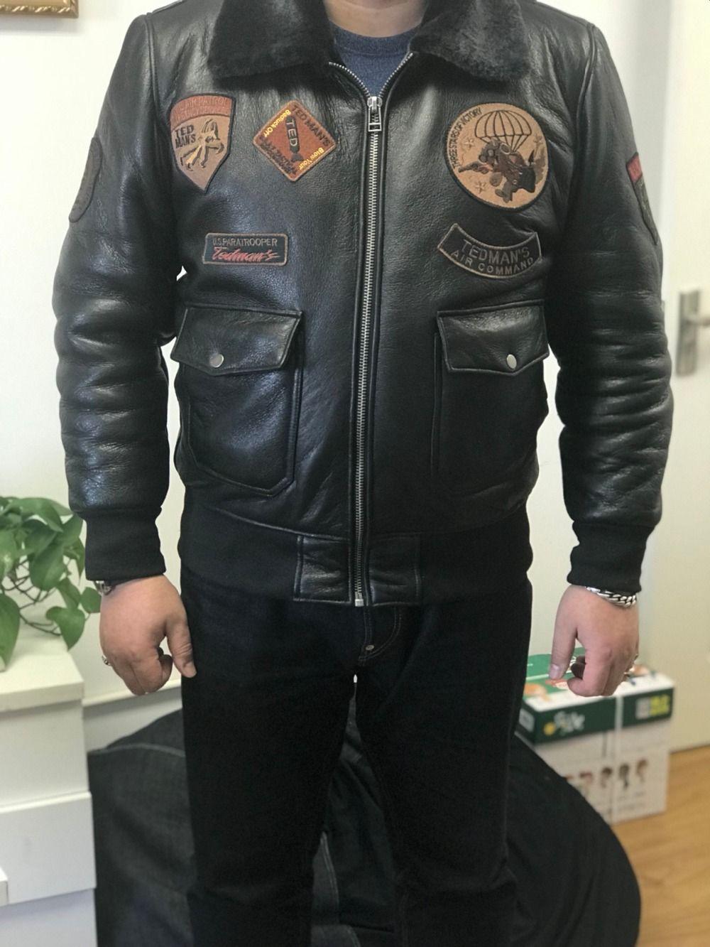 159f5da27 Black Men Pilot Leather Jacket Slim Fit Russian Winter Aviator. price  £1,170.99 at manlythings