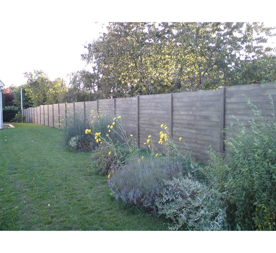 Jardin Piscine Gamme Paysage Effet Bois Cloture Paysage Effet Bois Gris Beton Nicolas 33 43 Ttc Piece S Jardins Cloture Jardin Jardin Exterieur