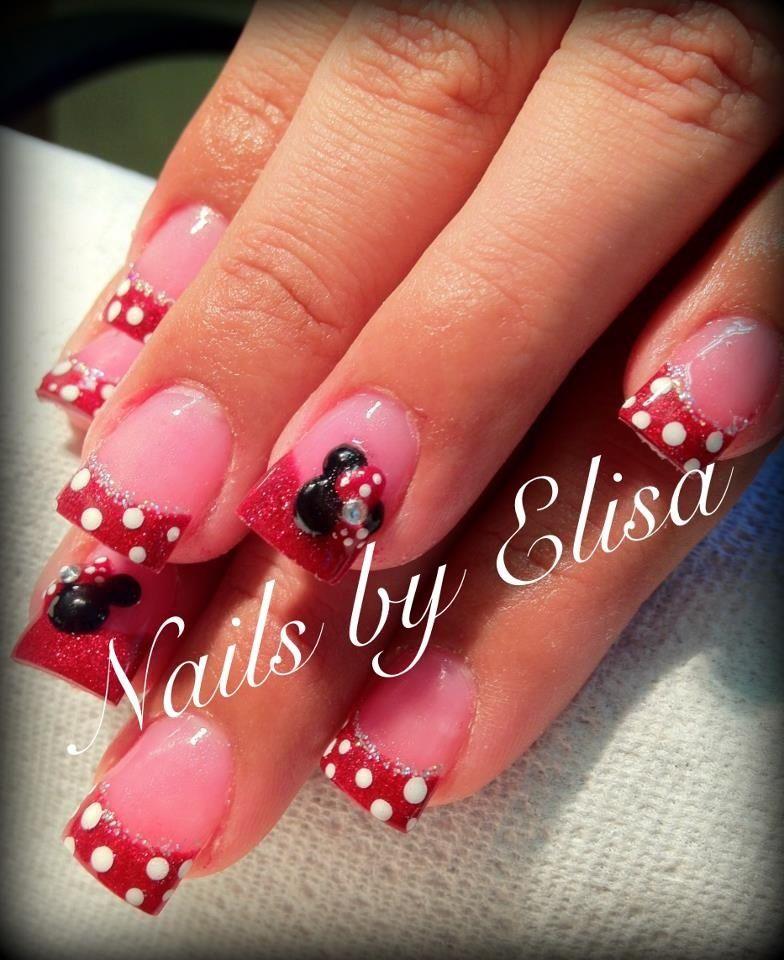 Minnie Mouse Nails   Cute   Pinterest
