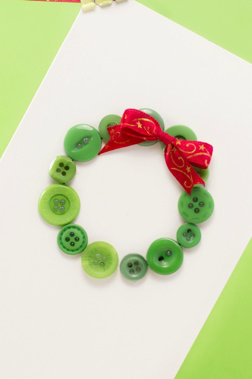 Easy To Make Christmas Cards Ideas Part - 44: Easy DIY Button Christmas Card Via Hopeful Honey