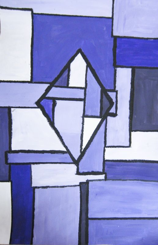 Abstract monochromatic painting