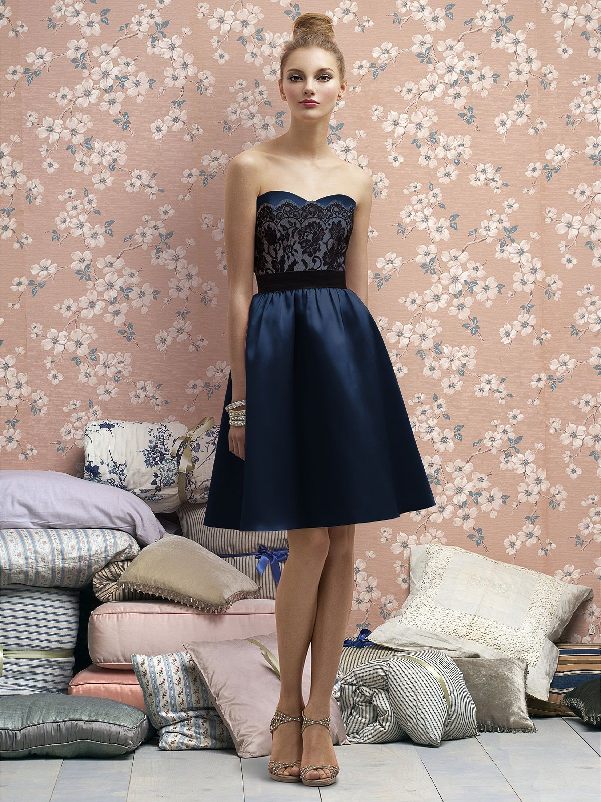 Dessy collection midnight bridesmaids pinterest lela rose
