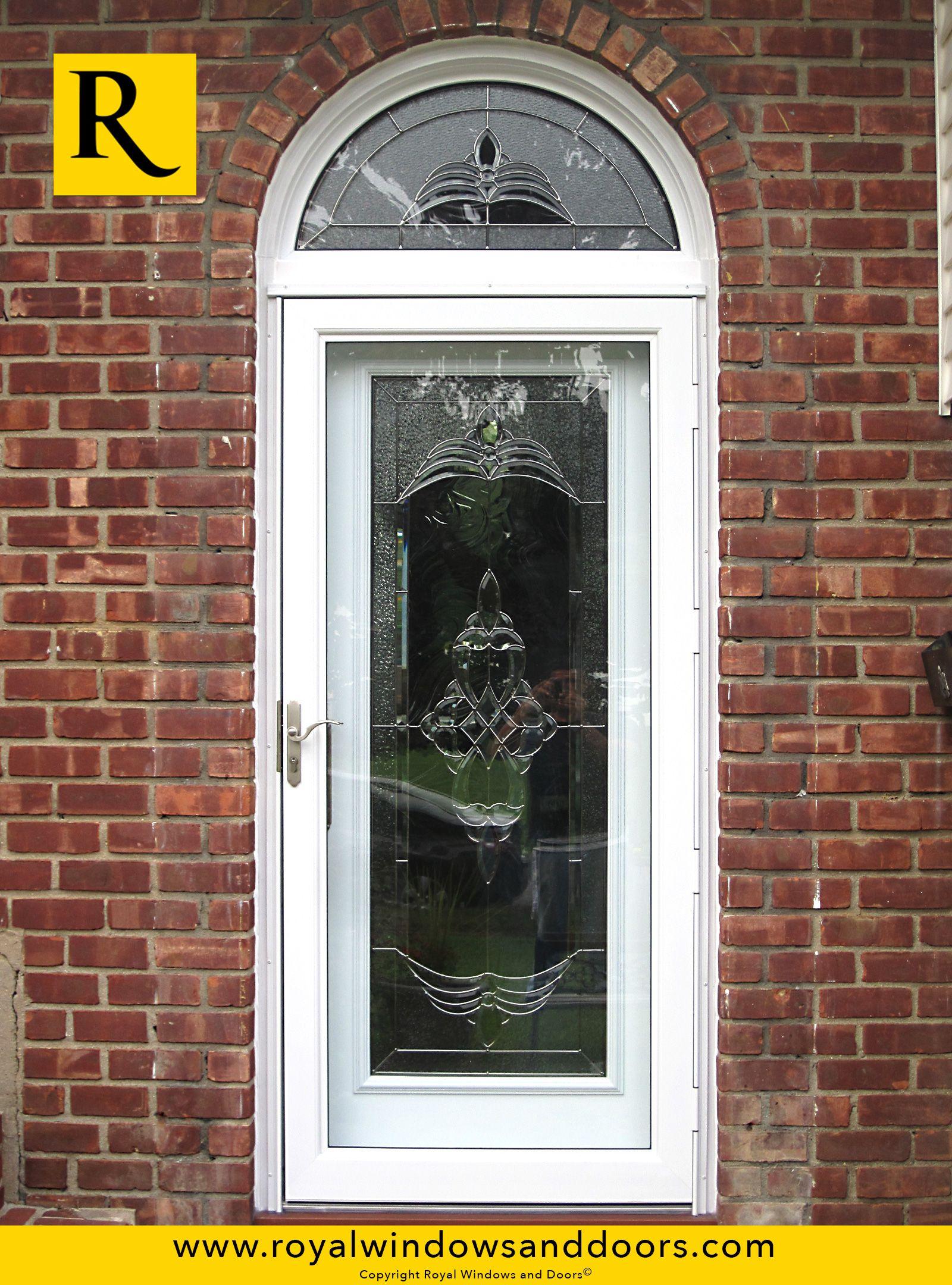 Single entry door white finish transom designer glass for Single entry door with glass