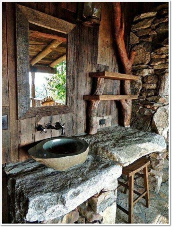badezimmer ideen wanne waschbecken alles stein | wohnen, Hause ideen