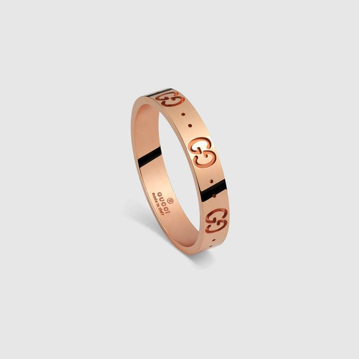 9c443796c Gucci Icon thin band ring in 18K rose gold | Jewelry: Rose Gold in ...