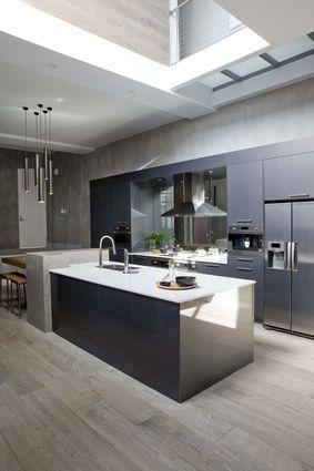 """The Block""-buster kitchen | ArchitectureAU- Silestone Alpine white & Blanco Zeus"
