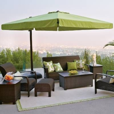 10 Cantilever Square Side Mount Umbrella Frontgate Patio Furniture Sets Patio Umbrellas Outdoor Umbrella