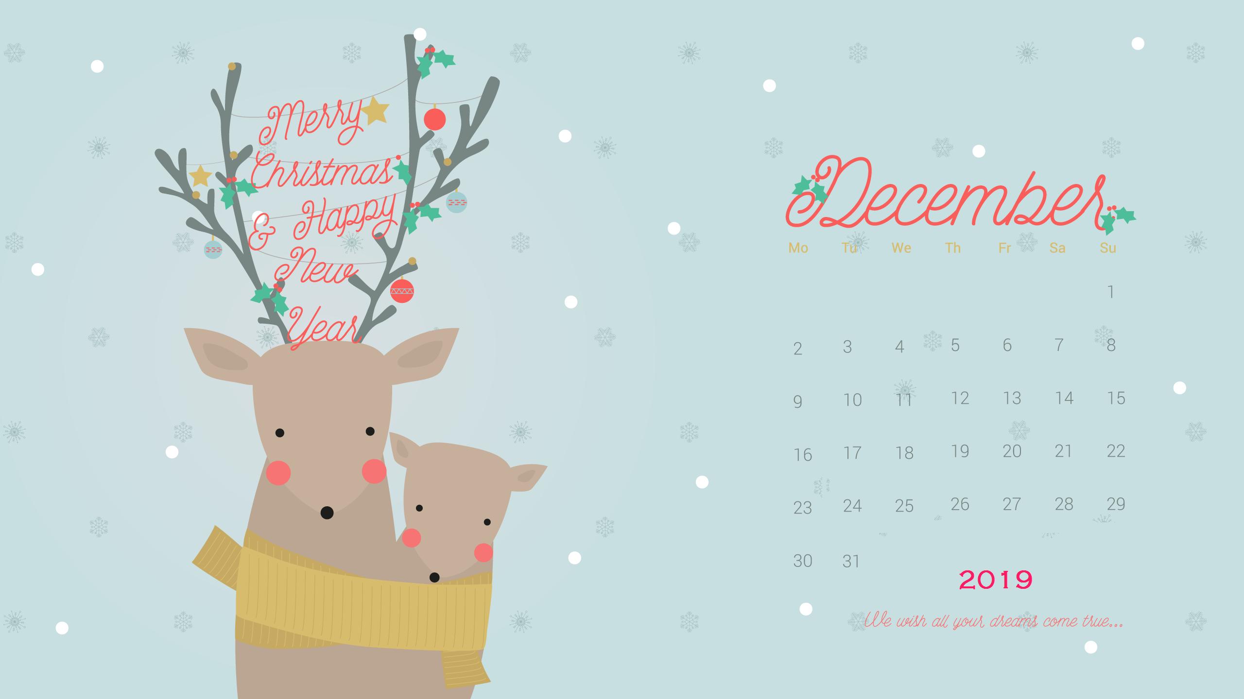 Cute December 2019 Desktop Wallpaper Calendar Wallpaper Christmas Desktop Wallpaper December Wallpaper