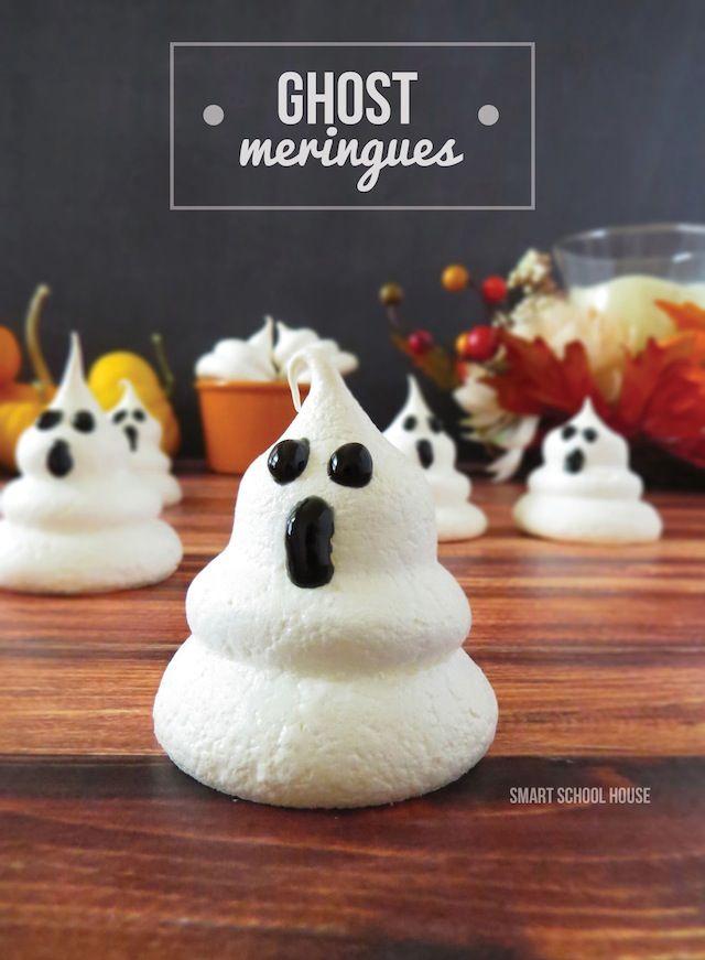 Ghost Meringues Halloween Pinterest Holidays, Food and - halloween dessert ideas