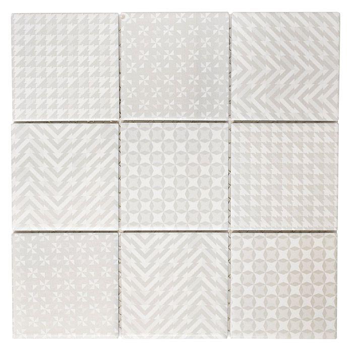 Mosaikfliese Quadrat Geo Grey GEOG in 2020