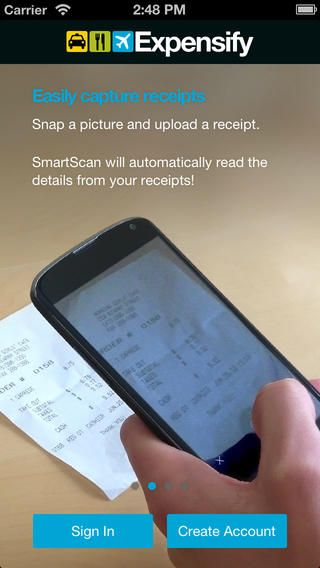 expensify a great app that helps you keep track of receipts and