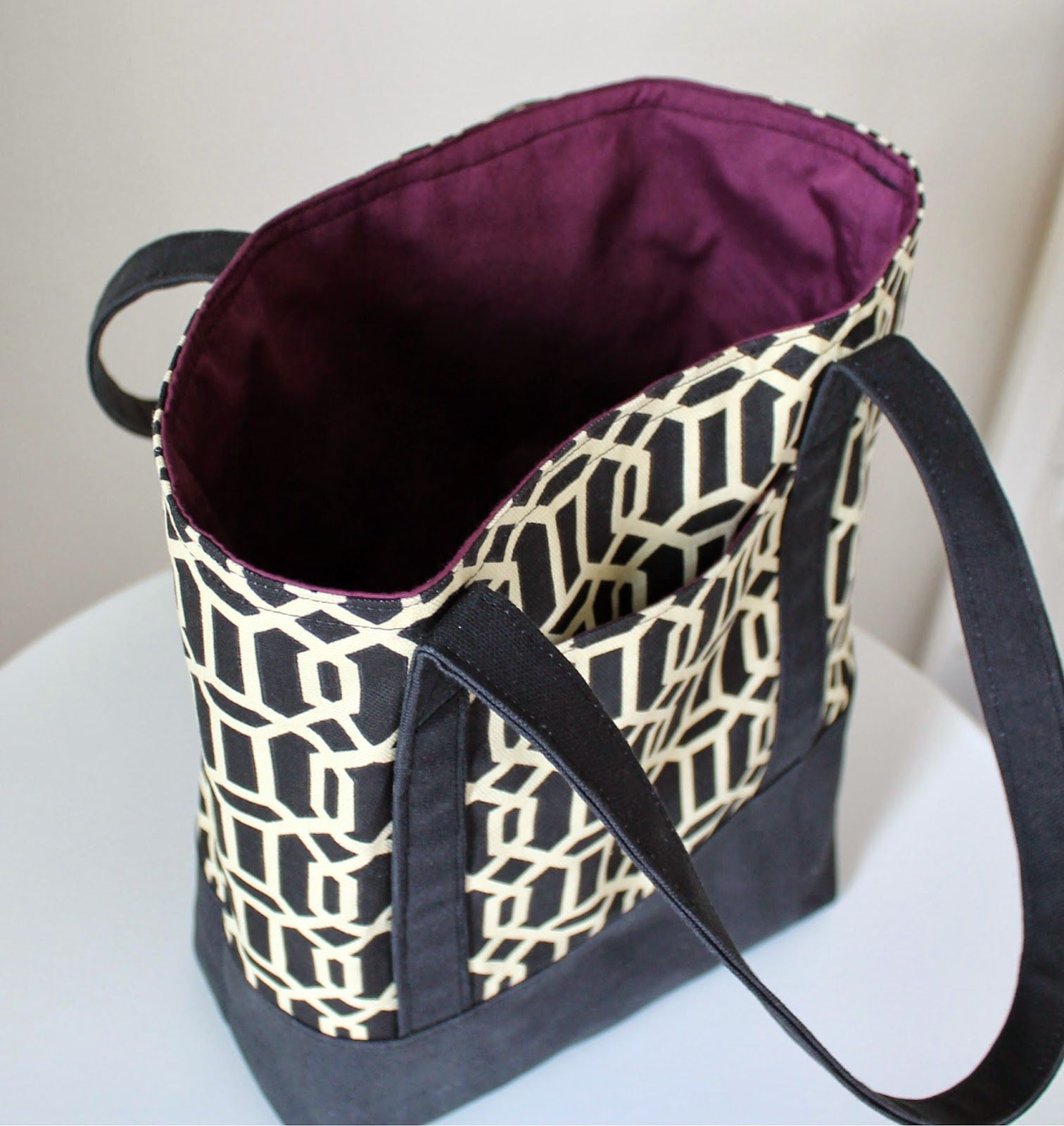 tutorial lined canvas tote