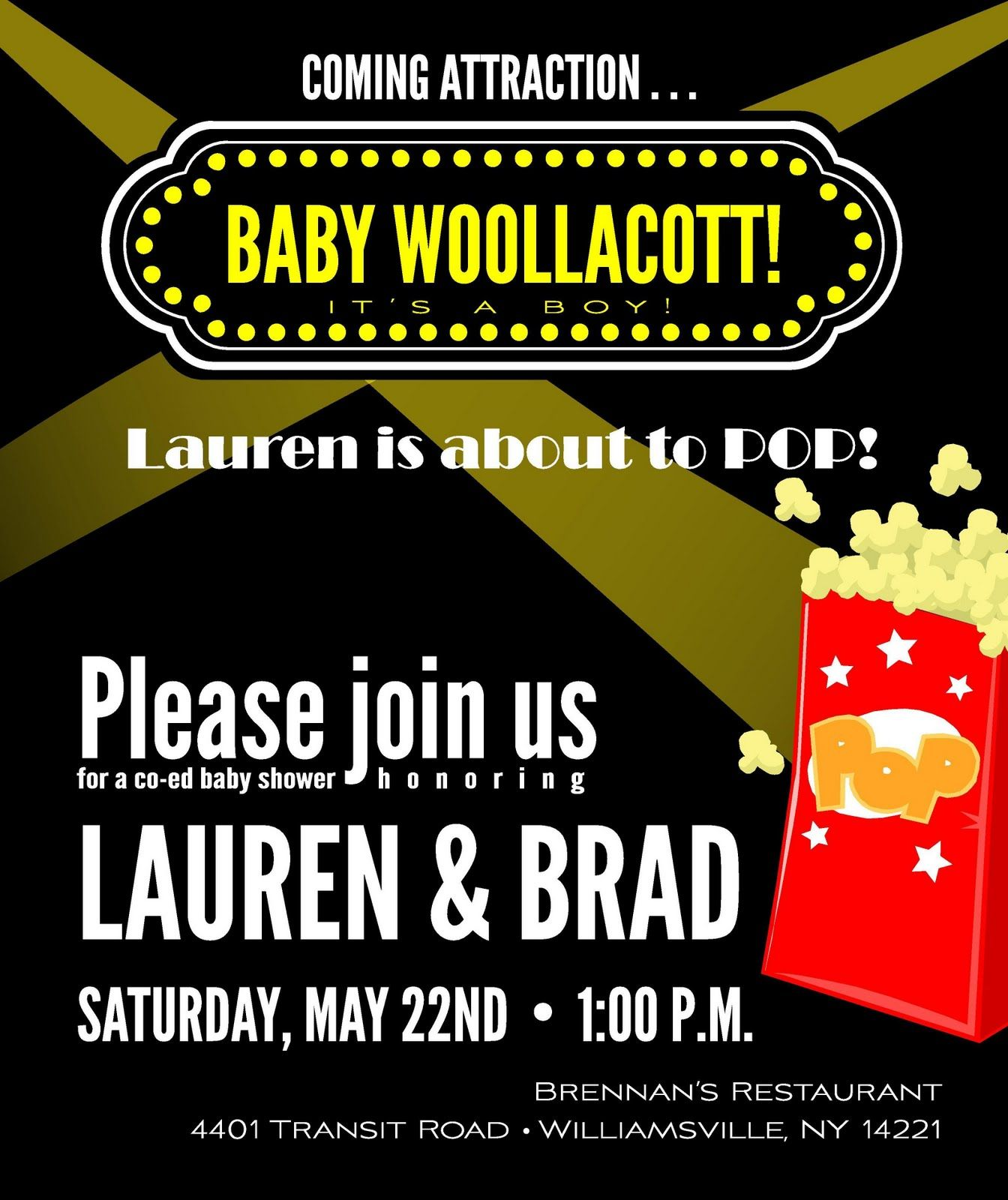 Event Confetti Party Time Movie Themed Baby Shower Movie Theme