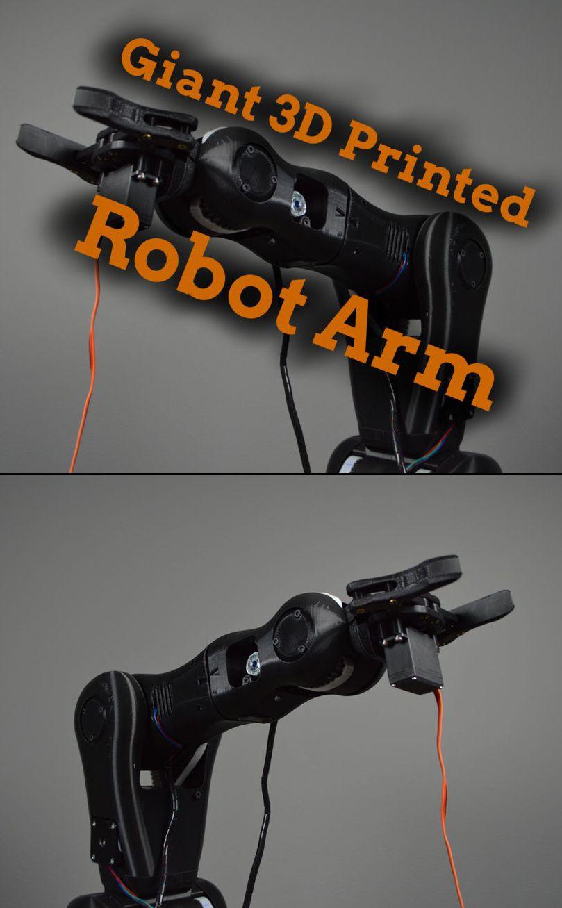 build a giant 3d printed robot arm zuk nftige projekte pinterest roboter bauen roboter. Black Bedroom Furniture Sets. Home Design Ideas