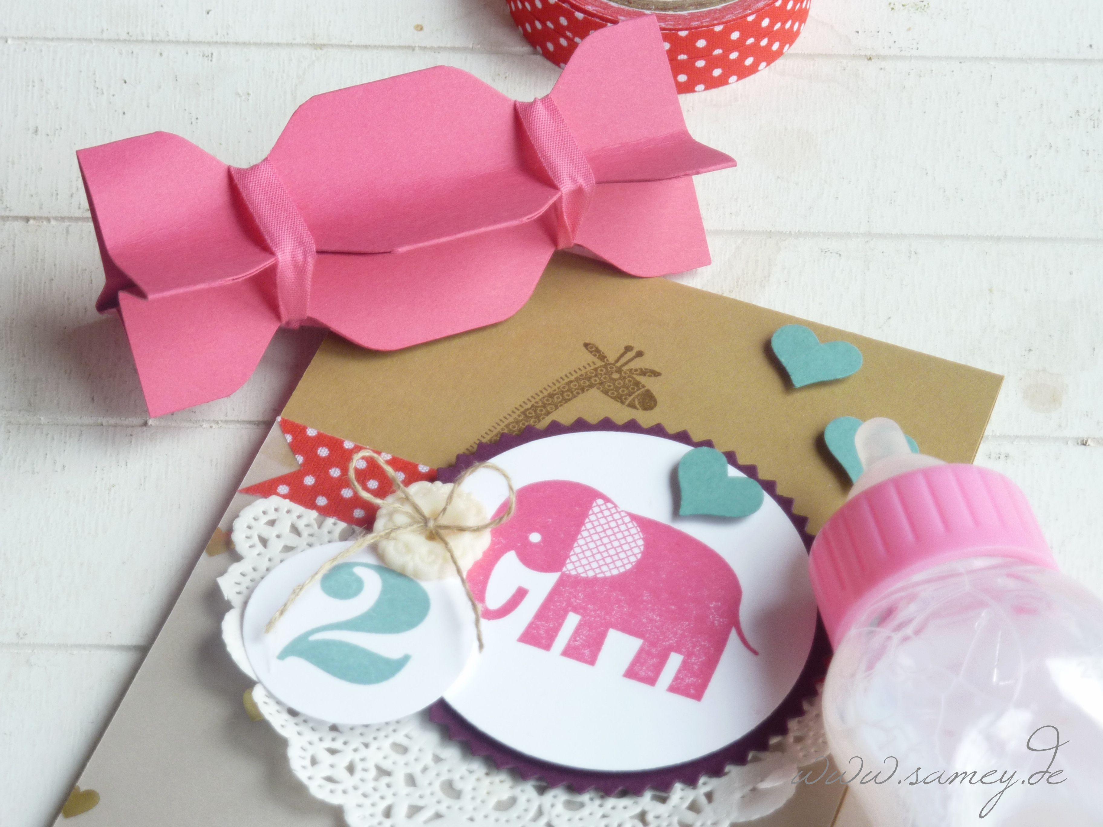 Einladung Zum 2 Geburtstag, Kindergeburtstag, Einladungskarte,  Geburtstagskarte, Stampin UP!, Sandra