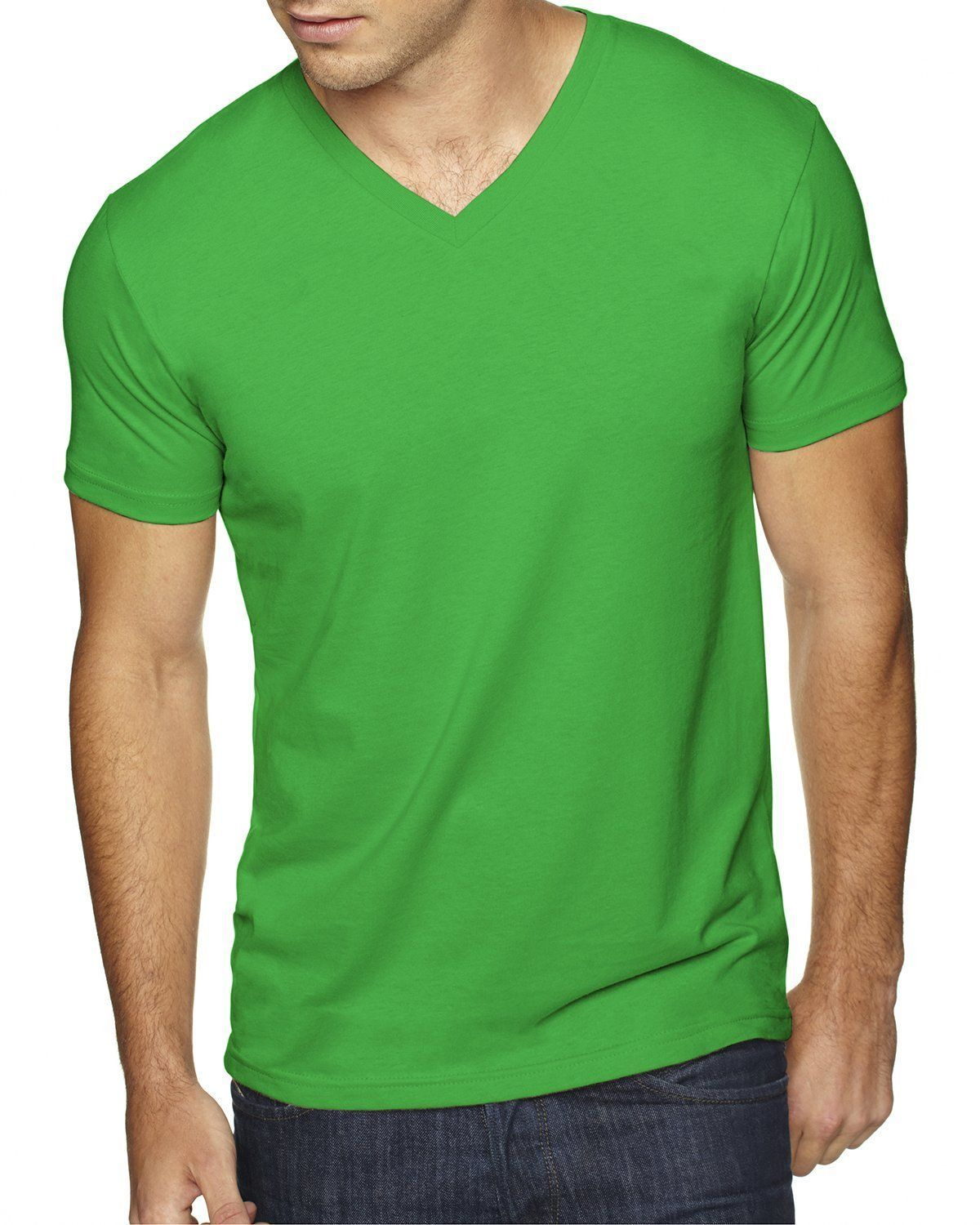 2 Pack Next Level Apparel 6440 Mens Premium Fitted Sueded V-Neck Tee
