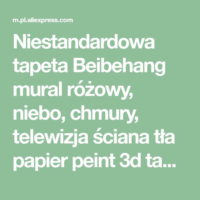 Niestandardowa Tapeta Beibehang Mural Rozowy Niebo Chmury Telewizja Sciana Tla Papier Peint 3d Tapety Dla Pokoju Goscinnego Tapety W Sprzedazy P Ios Messenger