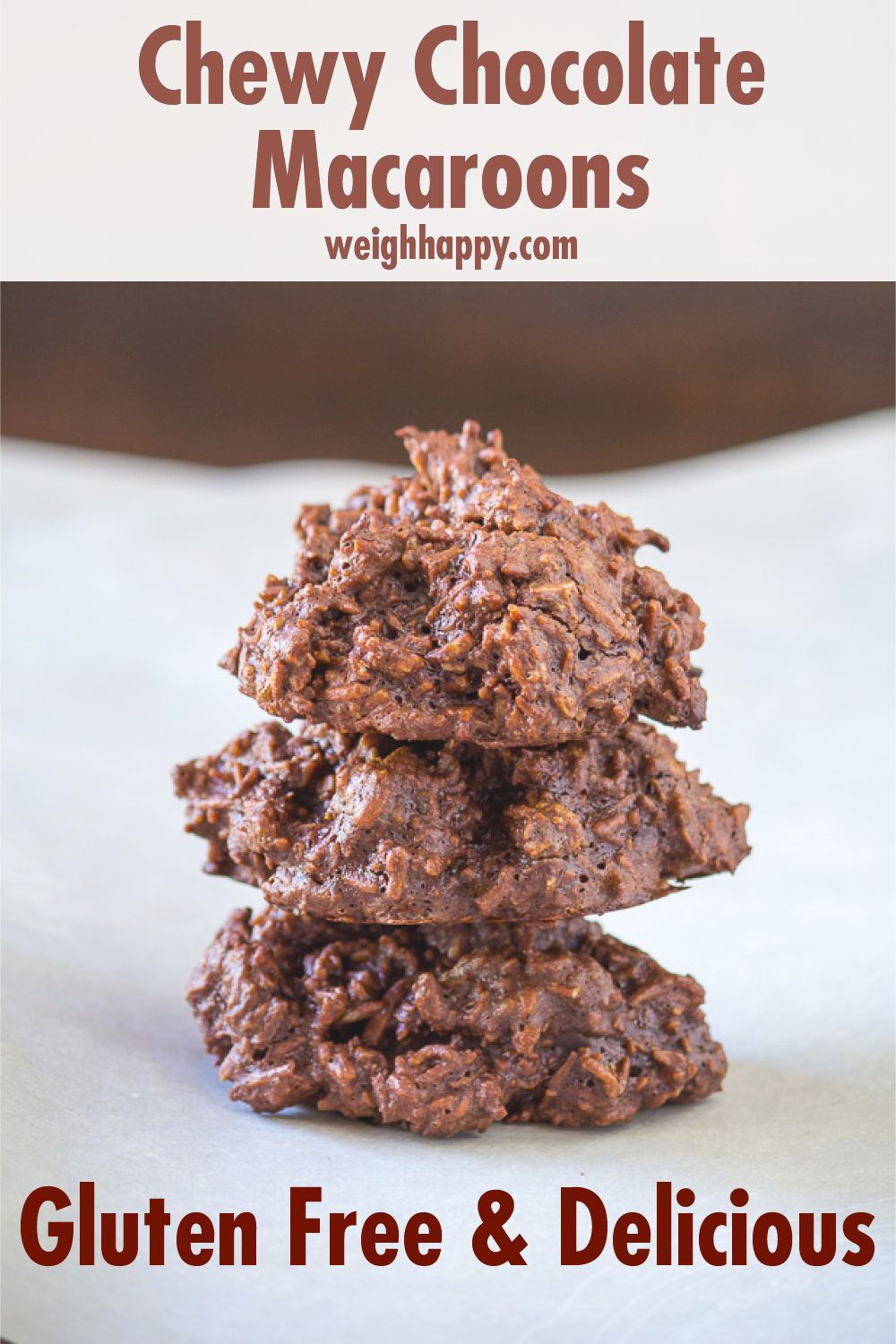 Chewy chocolate macaroons gluten free and delicious to