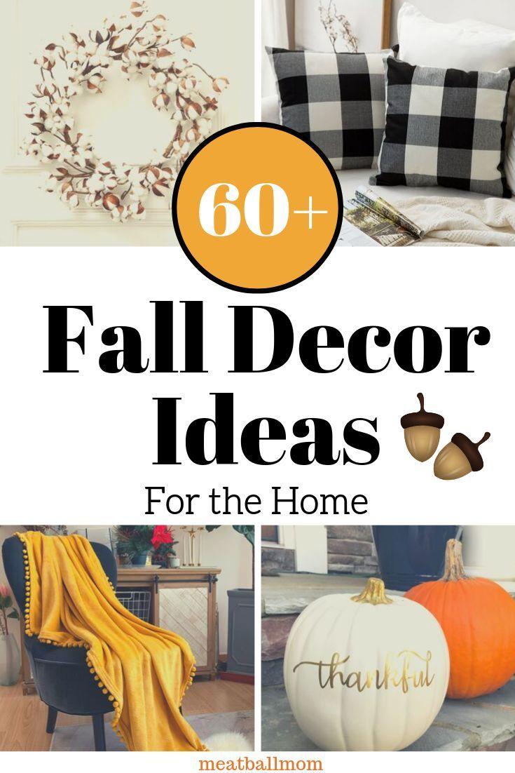 60+ Fall Decorating Ideas for the Home #fall #falldecor #homedecor #homedecorideas #falldecorideas #fallwreaths #buffalocheck #homedecorrustic #homedecorfarmhouse