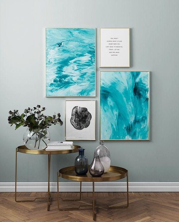 Bilderwand im Wohnzimmer | Gestalten Sie im Wohnzimmer eine schöne Bilderwand mit Postern #deseniobilderwandwohnzimmer