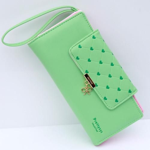 Popular Love Heart Women Wallet Delicate Lady Purse New Design Female  Clutch Multicolor Card Holders Fresh 40106de7ef4ea