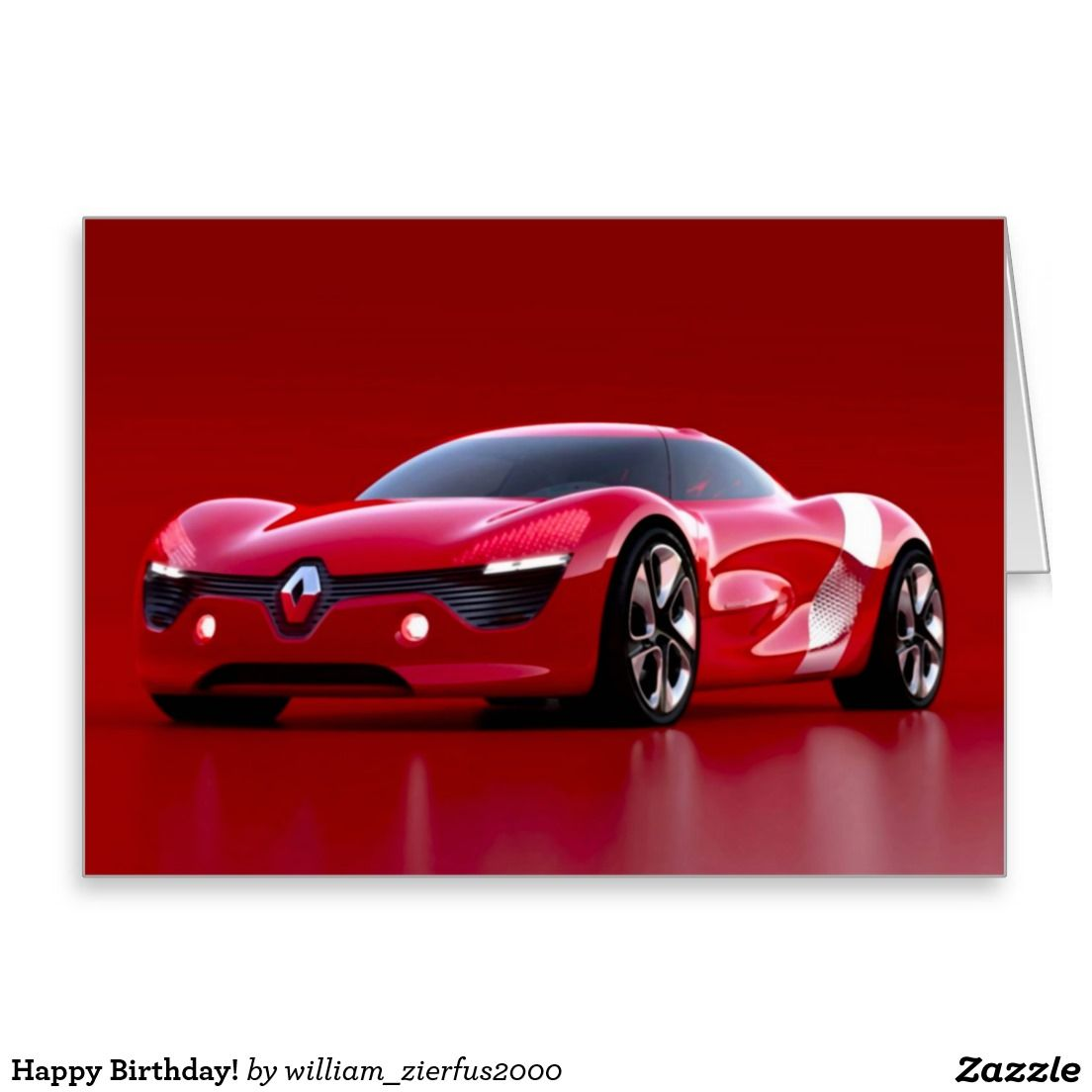 Happy Birthday Card Zazzle Com Concept Cars New Renault
