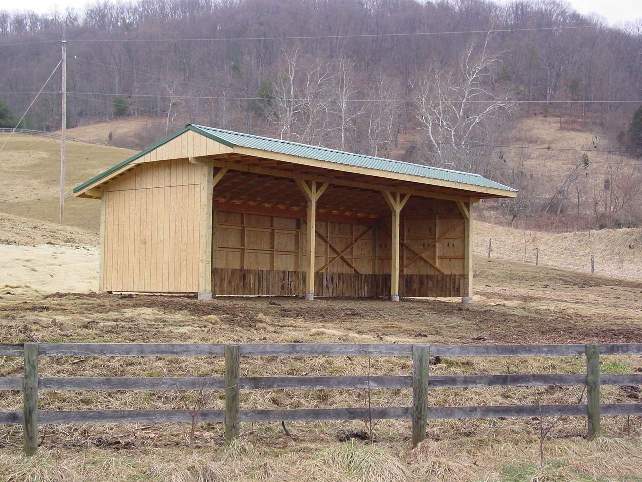 Paddock Horse Shelter Stables Horse Shed Horse Shelter