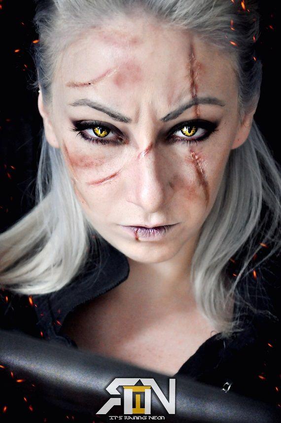 Genderbent Geralt The Witcher 3 by Its-Raining-Neon.deviantart.com on @DeviantArt