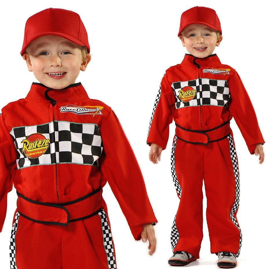 details about boys red racing car f1 driver boiler suit overalls fancy dress up costume outfit more costumes and ferrari party ideas