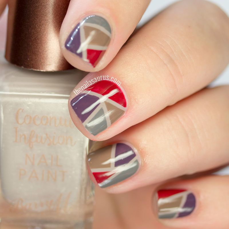 Patchwork Nail Art with Barry M Coconut Infusions for Autumn/Winter ...