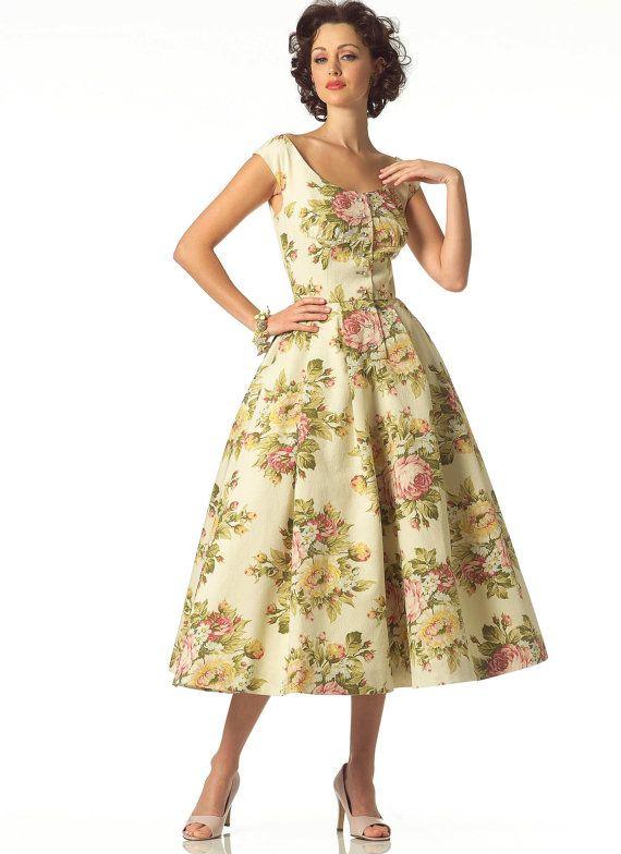 2960, Vogue, Vintage Vogue, 1950\'s Style, Cocktail Dress Rockabilly ...