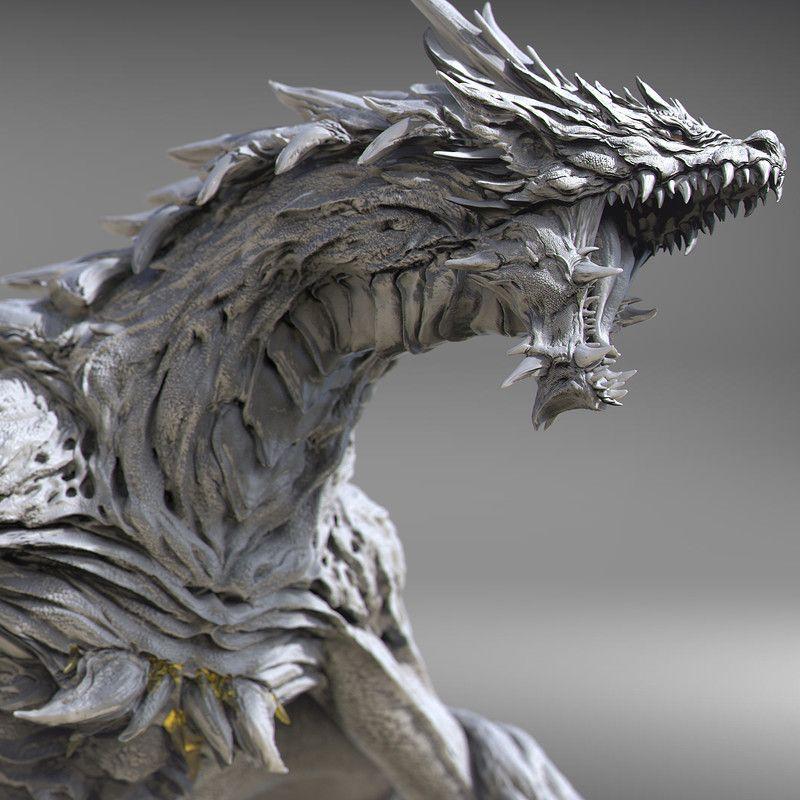 Dragon Sculpture Keida Okada Zbrush