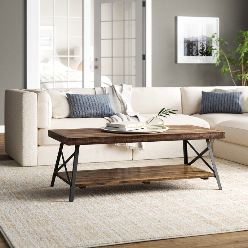 Cruz Coffee Table With Storage In 2020 Coffee Table Coffee Table Farmhouse Stylish Coffee Table