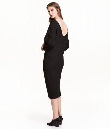 Schwarze lange kleider mit ruckenausschnitt