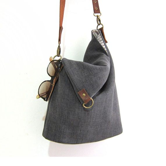 Foldover Bag Women S Handmade Handbags Linen Leather By Fabricasians On Etsy Enjoy 10 Off Coupon