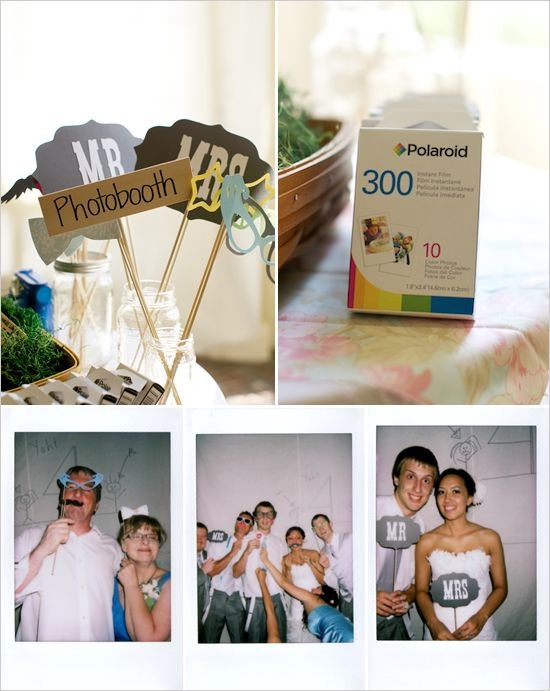 Budget Friendly Vintage Whimsy Wedding Polaroid Photo Boothsdiy