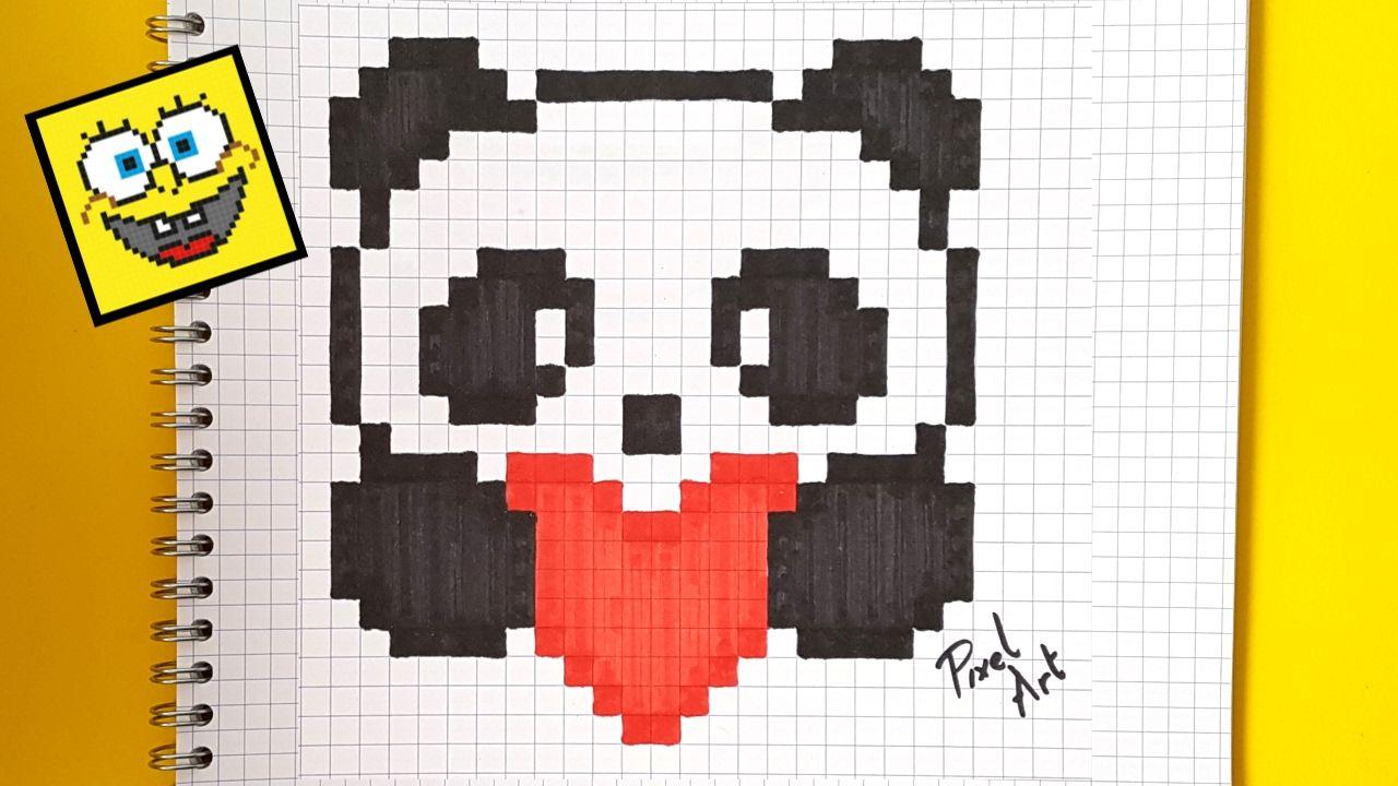 Pixel Art Panda Dessin Pixel Pixel Art Pixel Art Facile