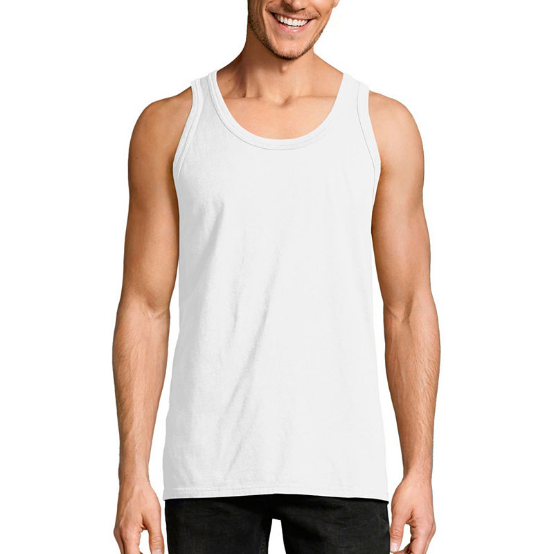 8e66146004d6f Hanes Mens Crew Neck Sleeveless Cooling Tank Top