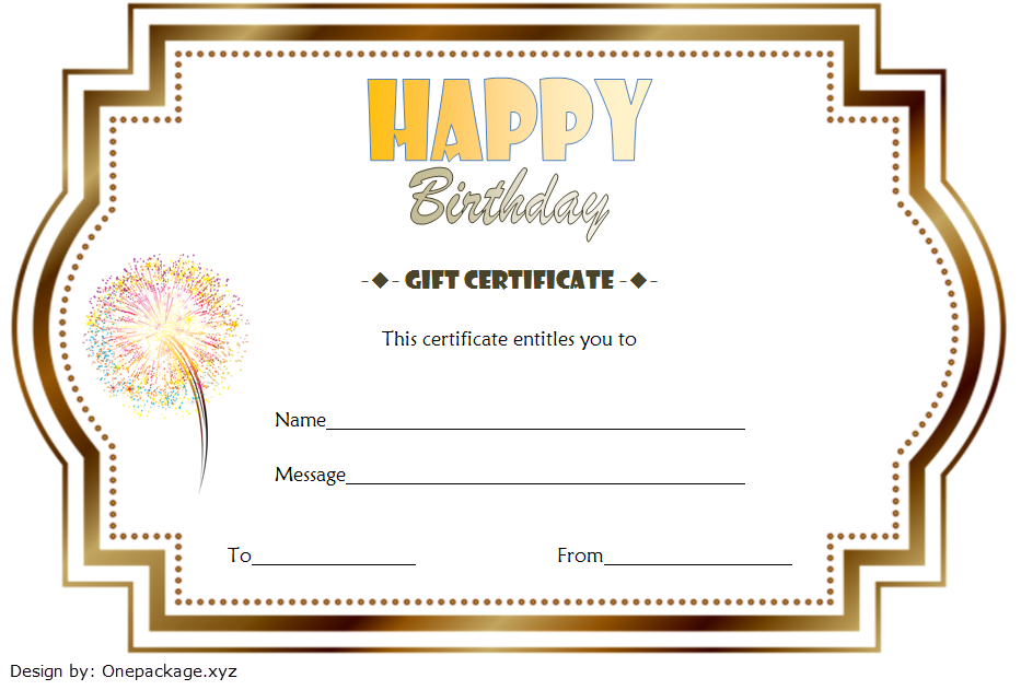 Birthday Gift Certificate Template Free Printable 3 Printable Gift Certificate Gift Certificate Template Templates Printable Free