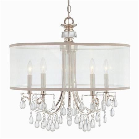 Modern glam shaded crystal chandelier 5 light chandeliers drum modern glam shaded crystal chandelier 5 light finishes shades of light aloadofball Choice Image
