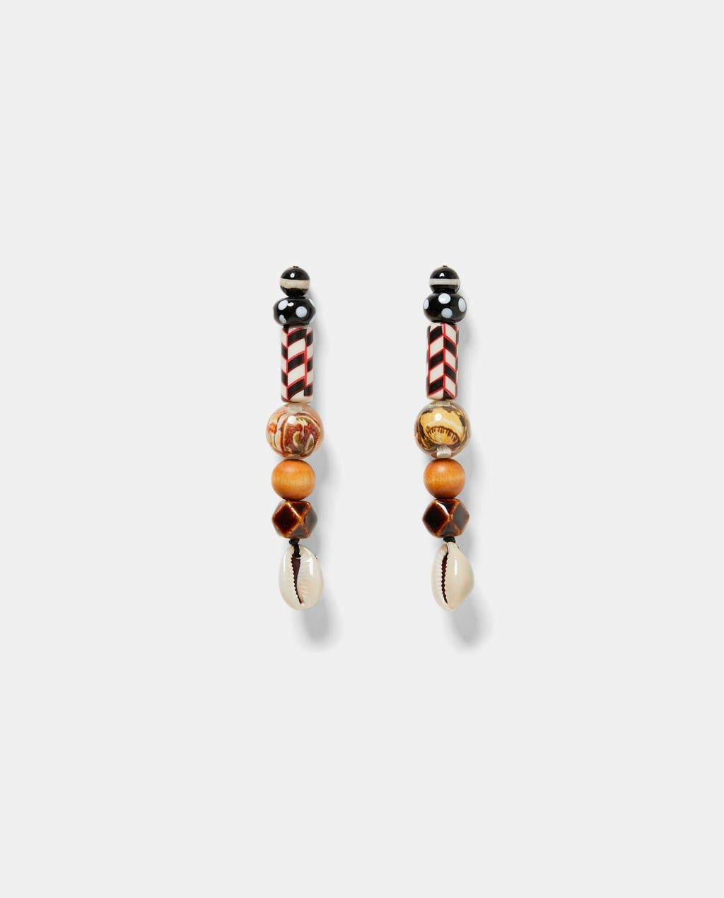 Tono Oro Perla Aro Pendientes Estilo Zara 5cm