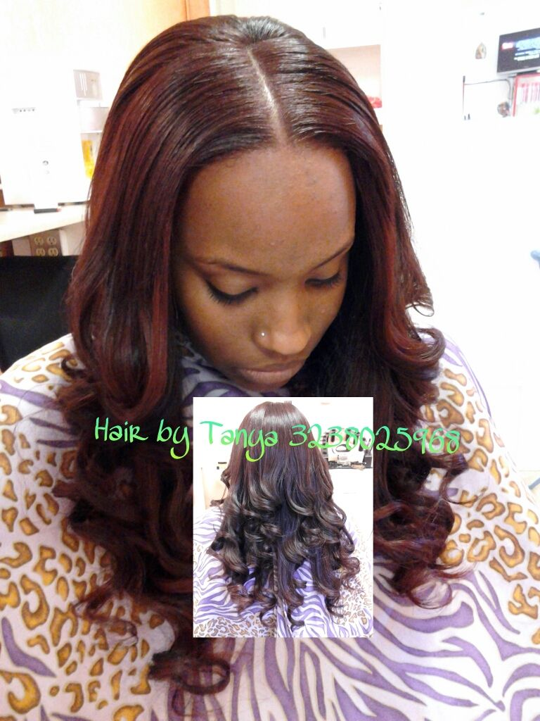 Full Head Sew In W Lil Outacked Hair And Hair Left Out Was