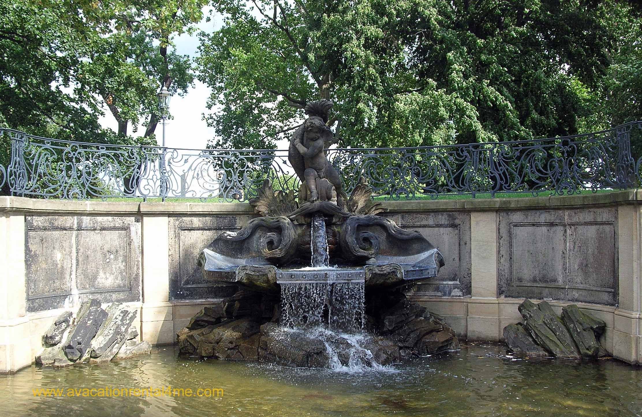 A Statue And Fountain Outside The Zwinger Palace In Dresden Germany In 2005 Zwinger Dresd Vacation Rentals By Owner Attractions In Germany Beautiful Places